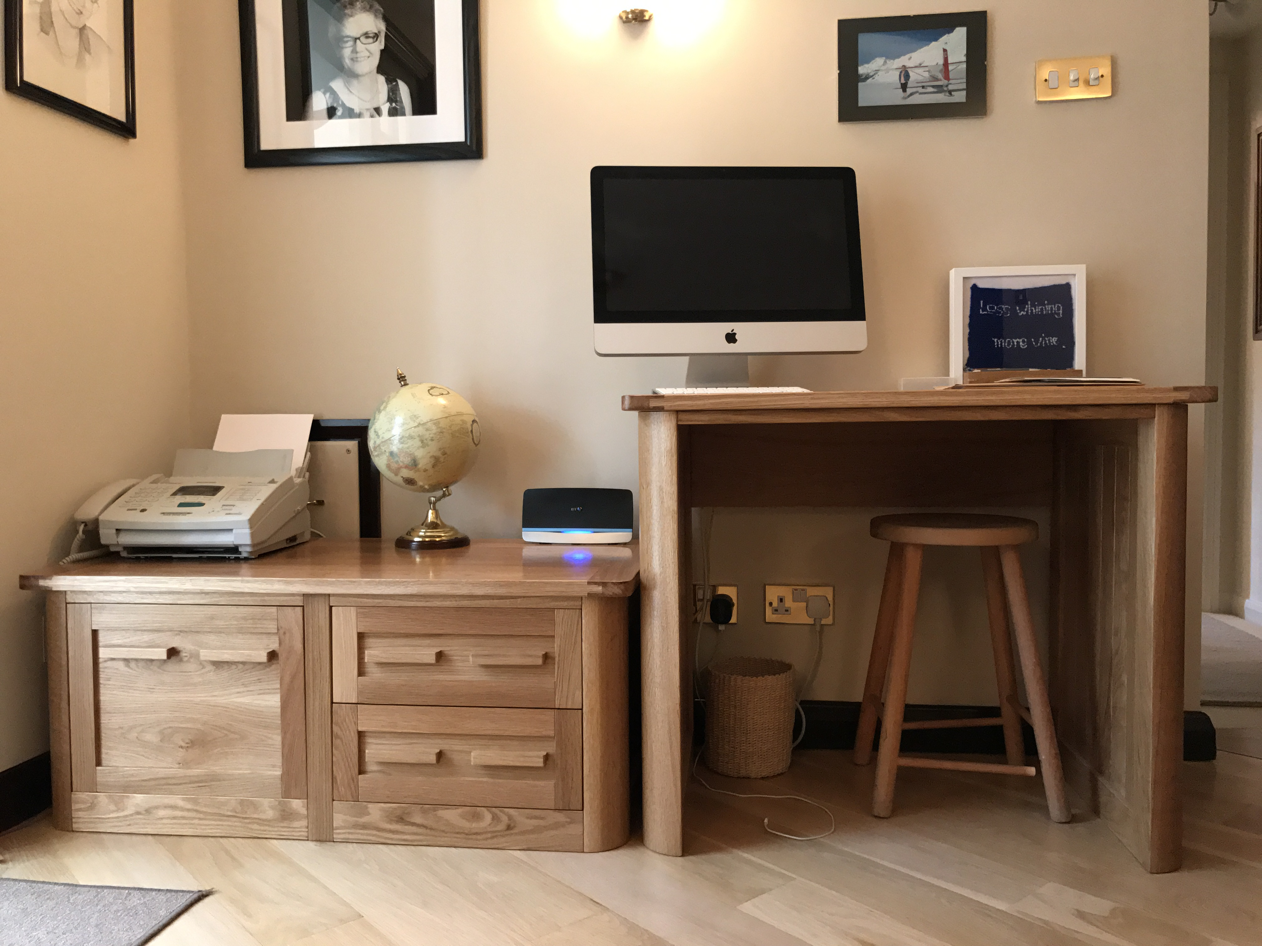 Computer desk and filing unit