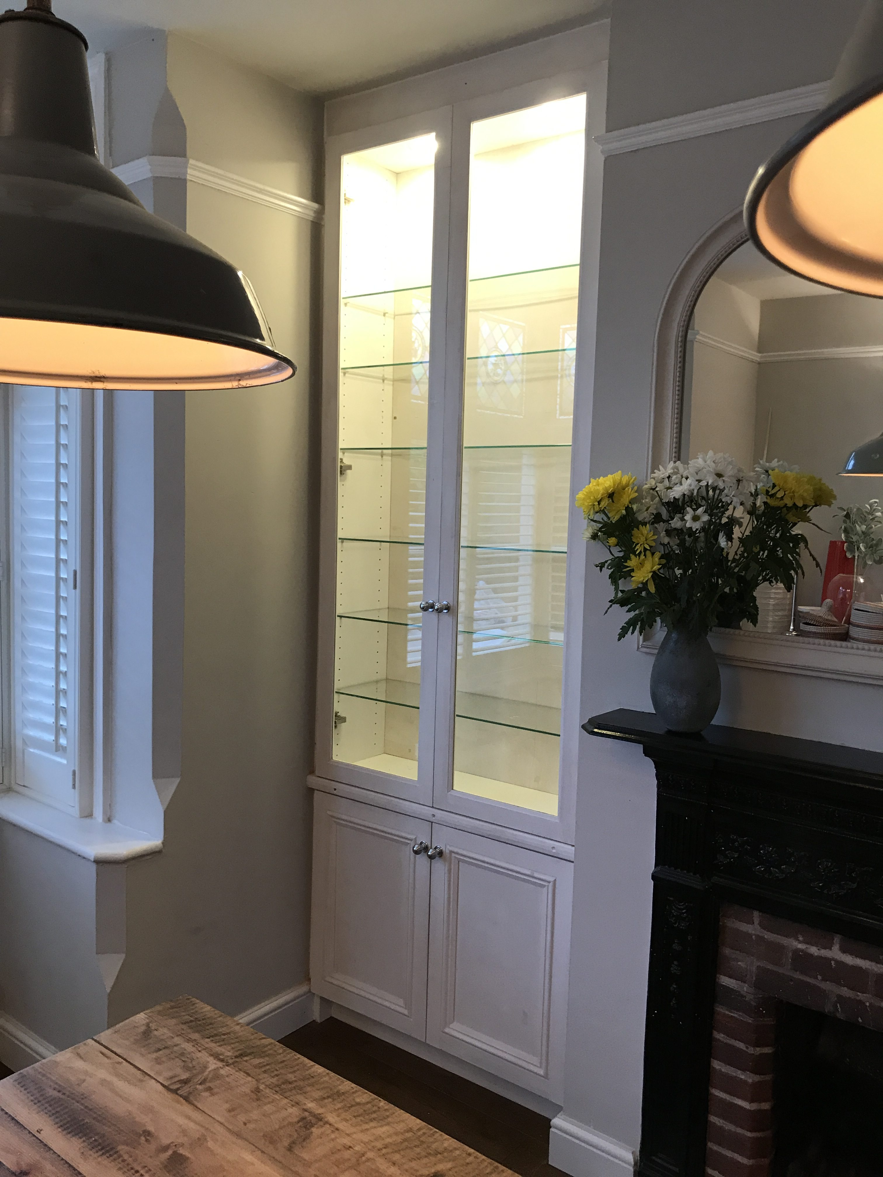 Glass fronted display unit