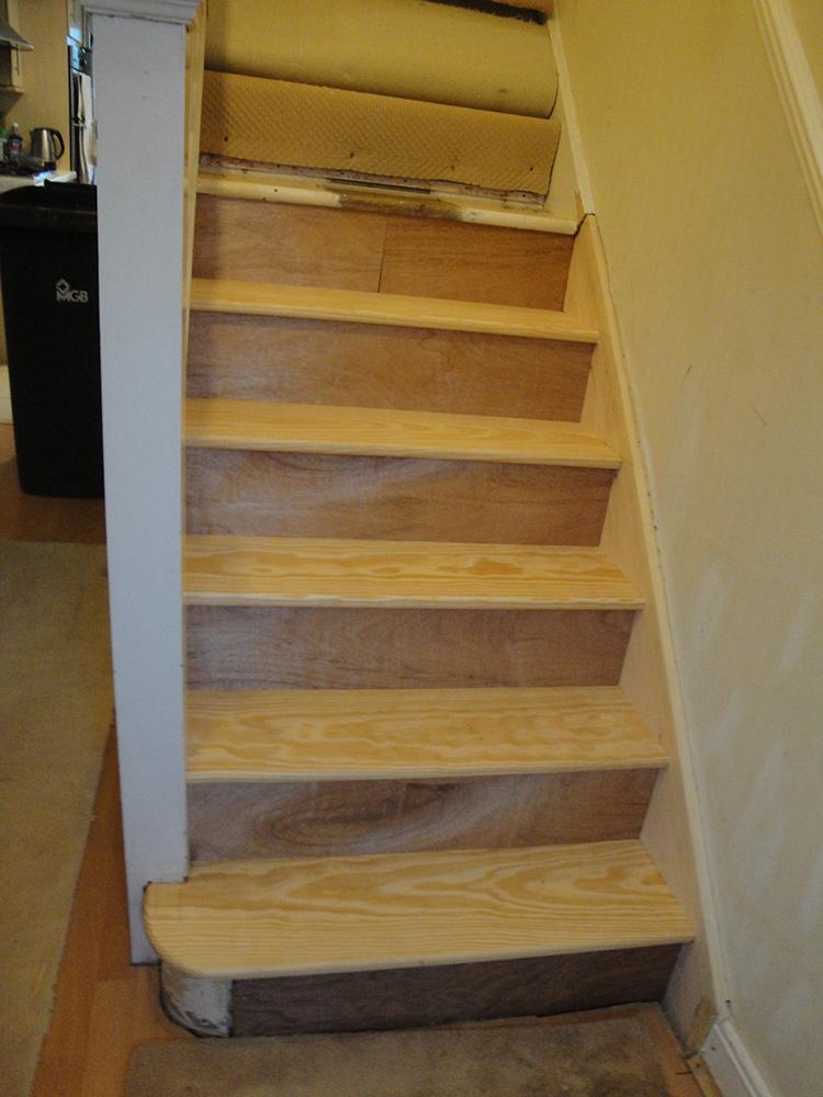 Completed stair case repair