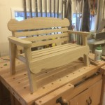 Kids oak bench