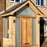 Oak porch door and glazing